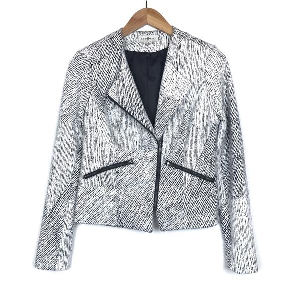 Anthropologie Jackets & Blazers - Anthropologie Kate Rosy Black White Moto Jacket S